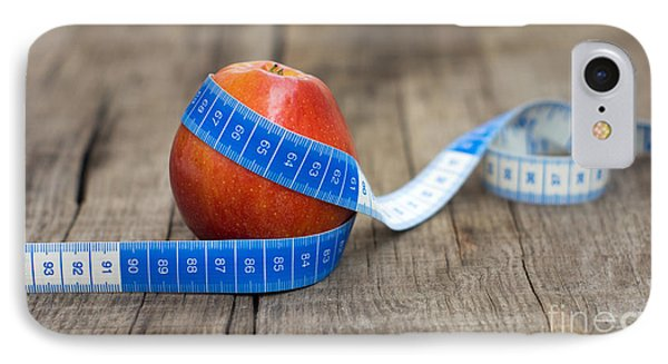 Apple And Measuring Tape IPhone Case by Aged Pixel