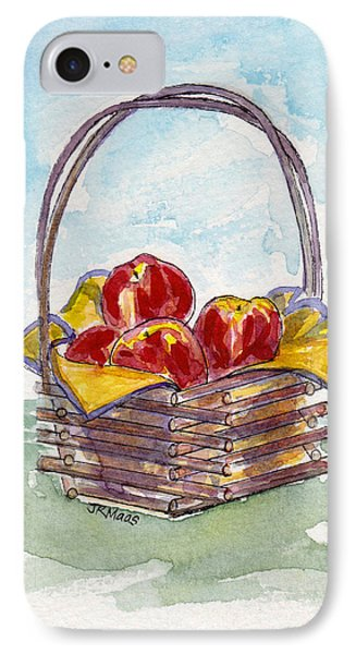 IPhone Case featuring the painting Apple Basket by Julie Maas