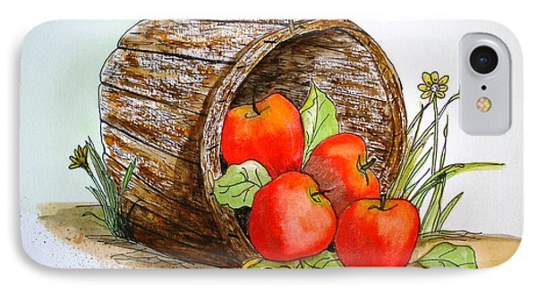 IPhone Case featuring the painting Apple Basket by June Holwell
