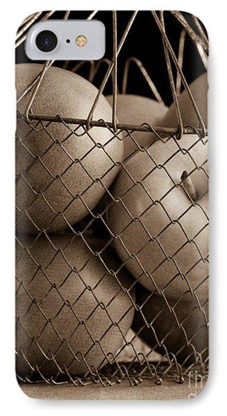 Apple Basket Still Life Phone Case by Edward Fielding