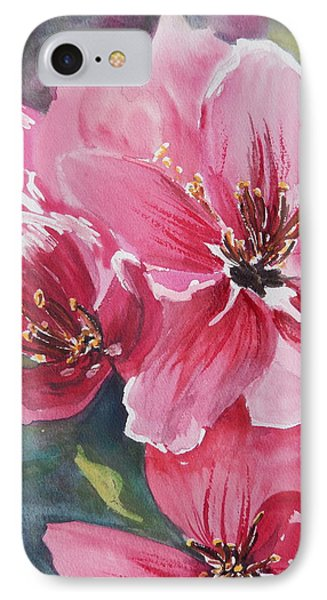 IPhone Case featuring the painting Apple Blossoms 2 by Betty-Anne McDonald