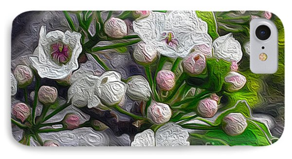 IPhone Case featuring the photograph Apple Blossoms In Oil by Nina Silver