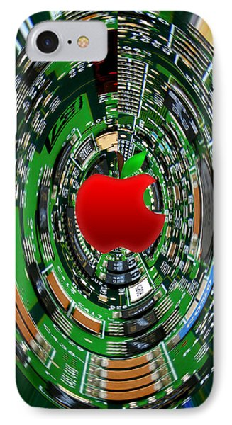 Apple Computer Abstract Phone Case by Sandi OReilly