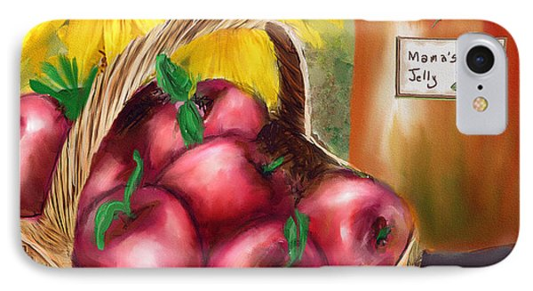 IPhone Case featuring the digital art Apple Harvest by Mary Almond