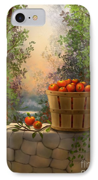 IPhone Case featuring the painting Apple Harvest by Sena Wilson