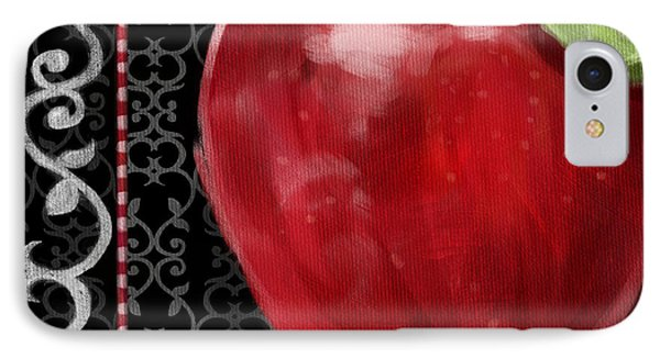 Apple On Black And White Phone Case by Shari Warren
