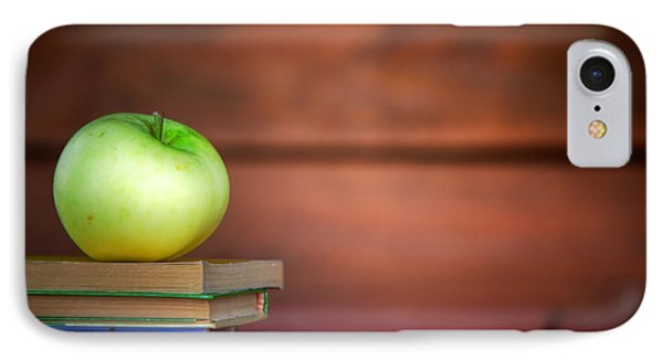 Apple On Pile Of Books Phone Case by Michal Bednarek