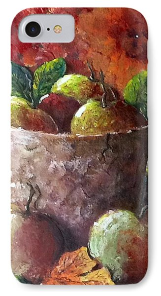 IPhone Case featuring the painting Apple Picking Time by Megan Walsh