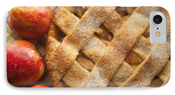 Apple Pie With Lattice Crust IPhone Case by Diane Diederich