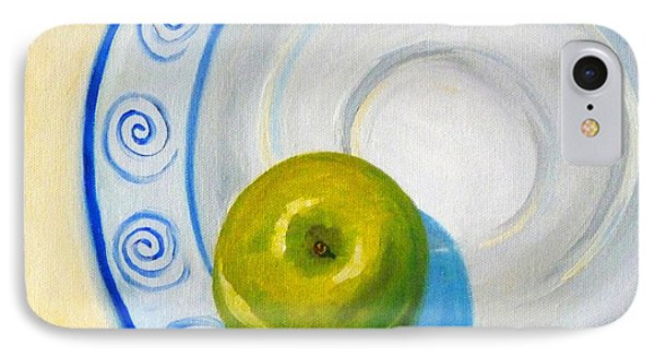 Apple Plate Phone Case by Nancy Merkle
