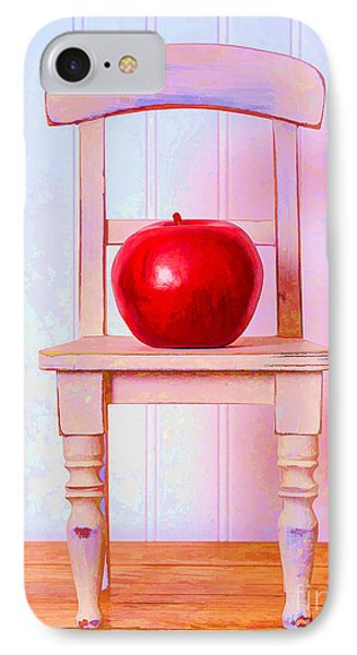 Apple Still Life With Doll Chair Phone Case by Edward Fielding