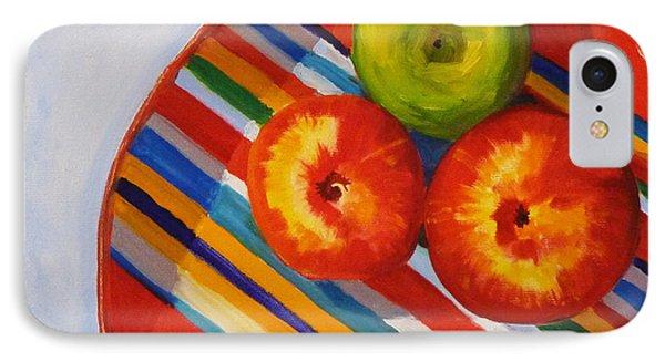 Apple Stripe Phone Case by Nancy Merkle
