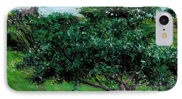 Apple Trees By The Sea Trouville Phone Case by Gustave Caillebotte