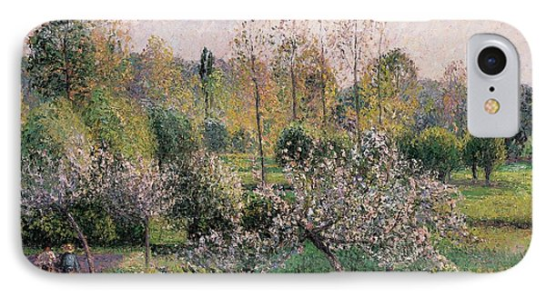 Apple Trees In Blossom Phone Case by Camille Pissarro