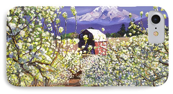 Appleblossoms Mount Hood IPhone Case by David Lloyd Glover