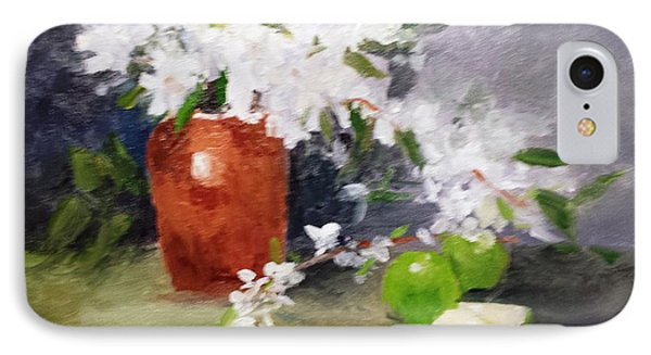 Apples And Blossoms IPhone Case by Larry Hamilton