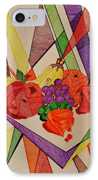 IPhone Case featuring the drawing Apples And Oranges by Celeste Manning