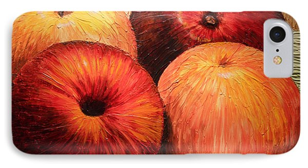 Apples And Oranges IPhone Case by Joey Agbayani