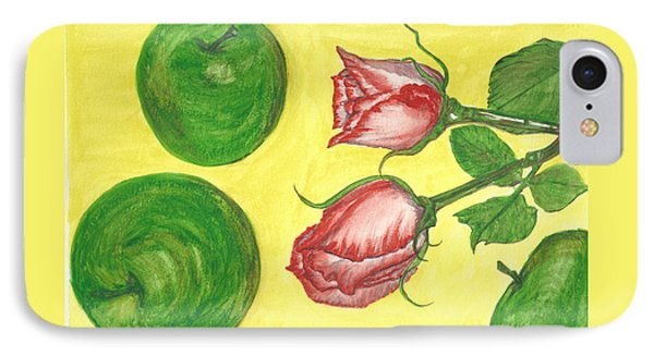 Apples And Roses IPhone Case