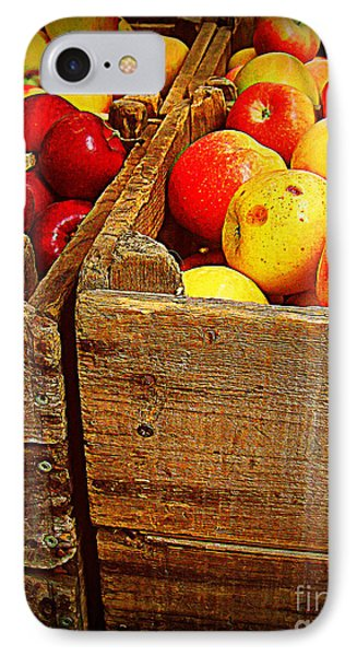 IPhone Case featuring the photograph Apples In Old Bin by Miriam Danar