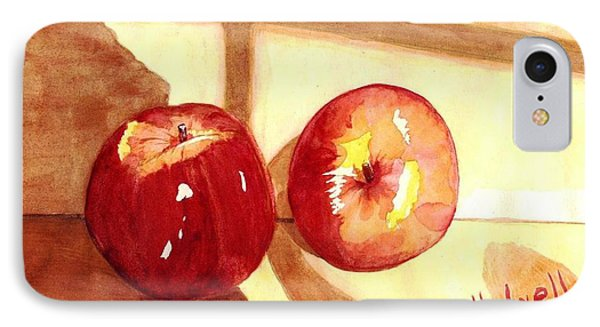 IPhone Case featuring the painting Apples by June Holwell