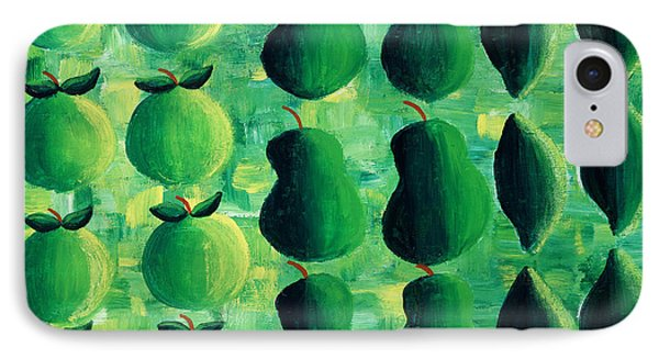 Apples Pears And Limes Phone Case by Julie Nicholls