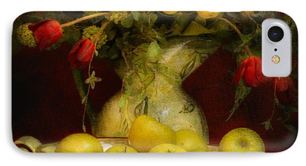Apples Pears And Tulips IPhone Case by Jeff Burgess