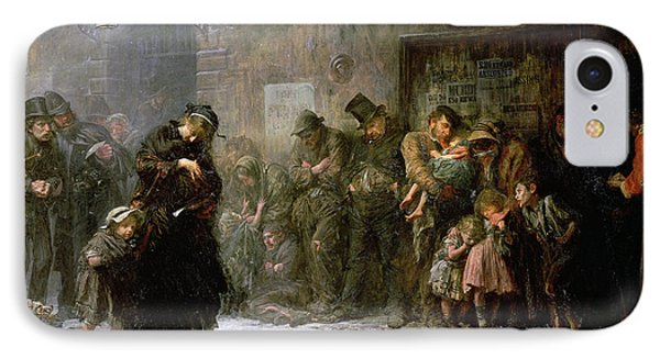 Applicants For Admission To A Casual Phone Case by Sir Samuel Luke Fildes