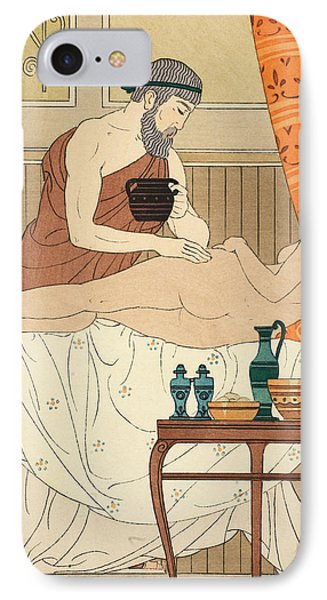 Application Of White Egyptian Perfume To The Hip Phone Case by Joseph Kuhn-Regnier