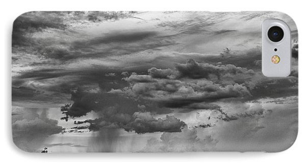 Approaching Storm Black And White Phone Case by Douglas Barnard