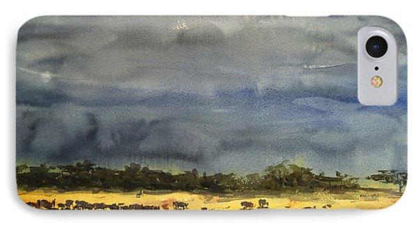 Approaching Storms In Tarangire Tanzania IPhone Case by James Nyika