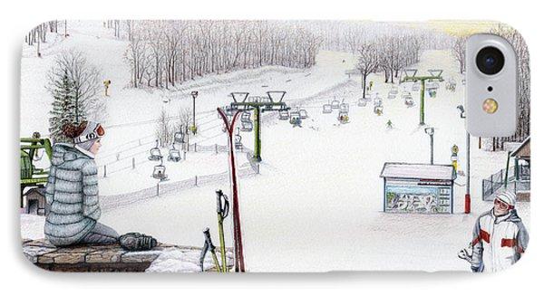 Apres-ski At Hidden Valley Phone Case by Albert Puskaric