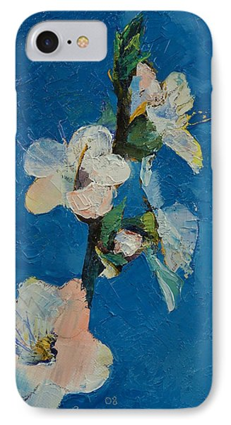 Apricot Blossom Phone Case by Michael Creese