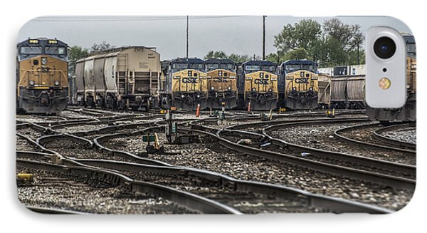 April 30 2014 - Csx Howell Yards IPhone Case by Jim Pearson