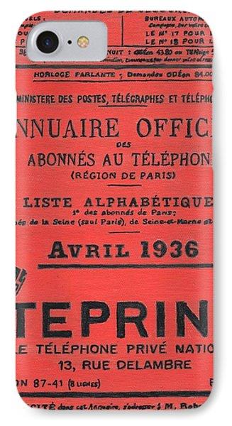 April In Paris 1936 IPhone Case