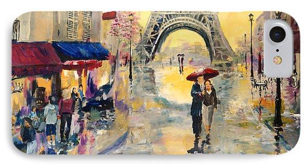 April In Paris IPhone Case by Alan Lakin