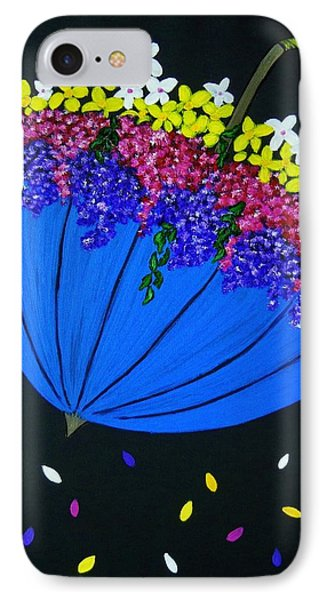 IPhone Case featuring the painting April Showers... by Celeste Manning