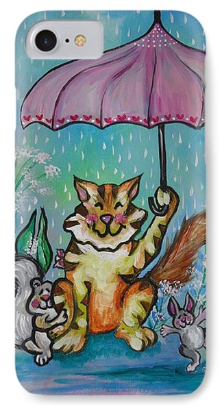 April Showers IPhone Case by Leslie Manley