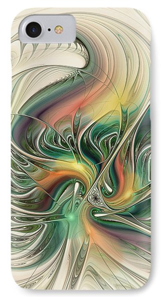 IPhone Case featuring the digital art April's Temper by Kim Redd