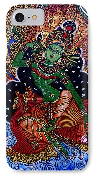IPhone Case featuring the painting Apsara by Saranya Haridasan