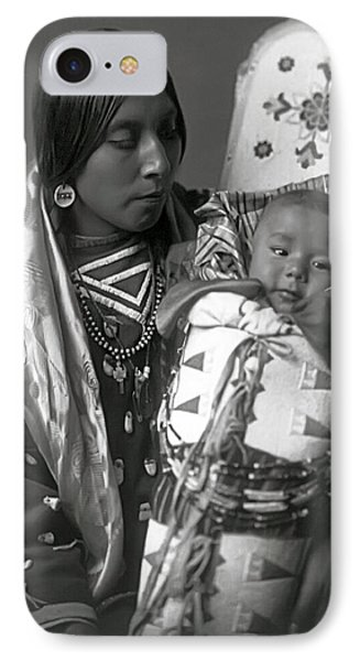 Apsaroke Woman And Baby  1908 IPhone Case