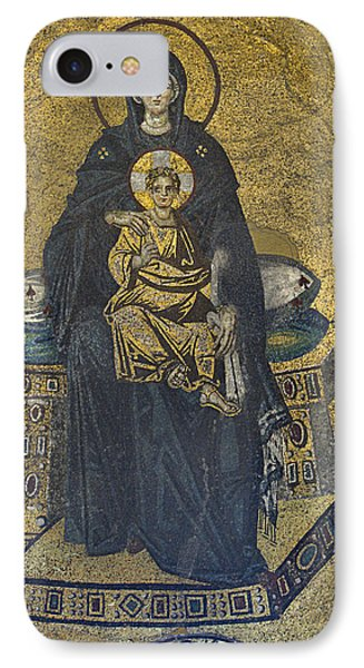 Apse Mosaic Hagia Sophia Virgin And Child Phone Case by Ayhan Altun