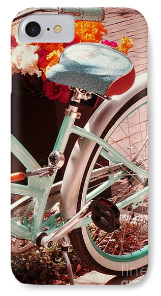 Aqua Bicycle IPhone Case by Valerie Reeves