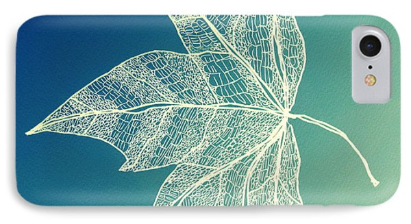 Aqua Leaf Study 1 IPhone Case by Cathy Jacobs