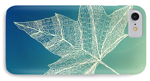 Aqua Leaf Study 4 IPhone Case by Cathy Jacobs