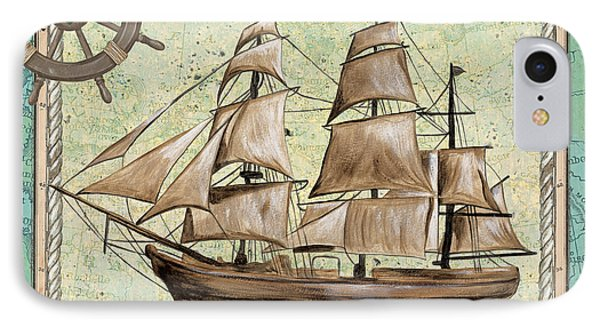 Aqua Maritime 1 IPhone Case by Debbie DeWitt