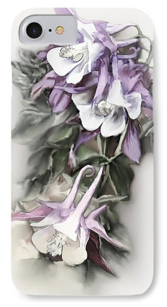 Aqualigia Cascade IPhone Case by Bonnie Willis