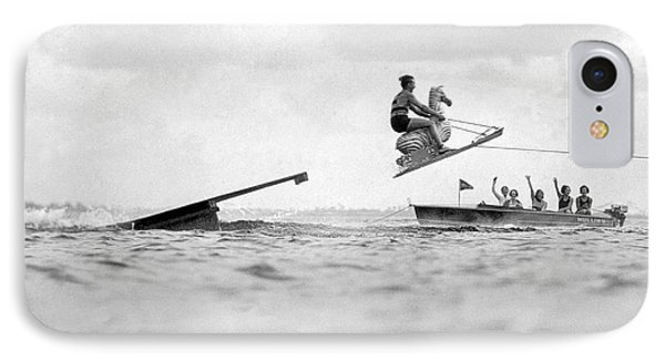 Aquaplane Champ And His Horse IPhone Case by Underwood Archives
