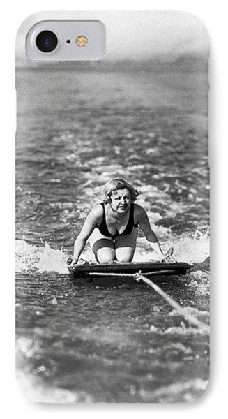 Aquaplane In Coronado IPhone Case by Underwood Archives