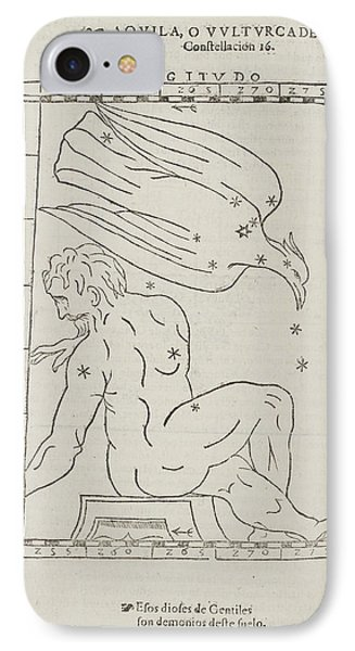 Aquila Star Constellation IPhone Case by British Library